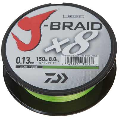 DAIWA J-BRAID X8 150M CHARTREUSE