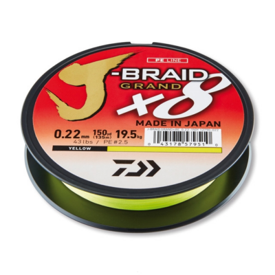 DAIWA J BRAID GRAND X8 ZSINÓR 135M