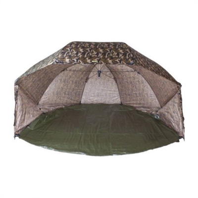 FAITH CARP TACKLE OVAL BROLLY COMPLETE CAMO 60INCH
