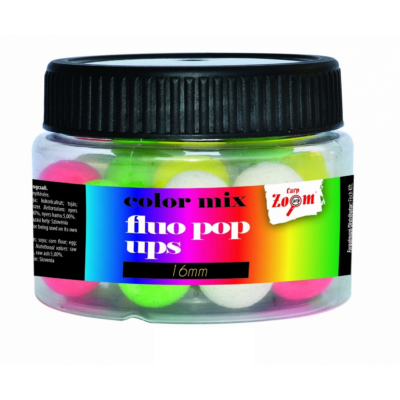 CARP ZOOM FLUO POP UPS COLOUR MIX LEBEGŐ BOJLI 50GR 10MM