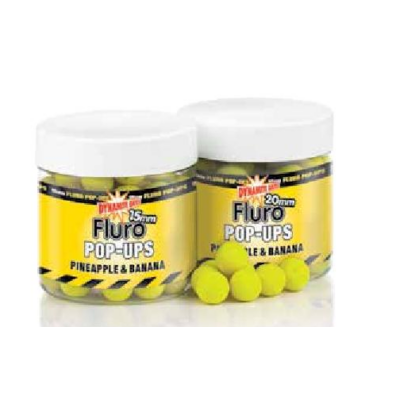 DYNAMITE BAITS FLUORO POP UP BOJLI  PNEAPPLE-BANANA 20MM DY571