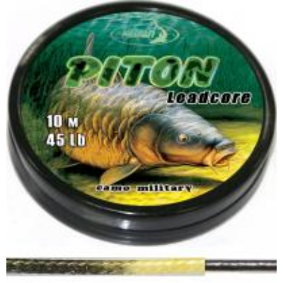 KATRAN PITON LEAD CORE 45 LB 70 CM CAMO GREEN BLACK 2 PCS.