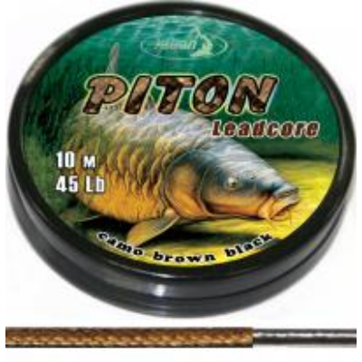 KATRAN PITON LEAD CORE CAMO BROWN BLACK 45 LB 10 M