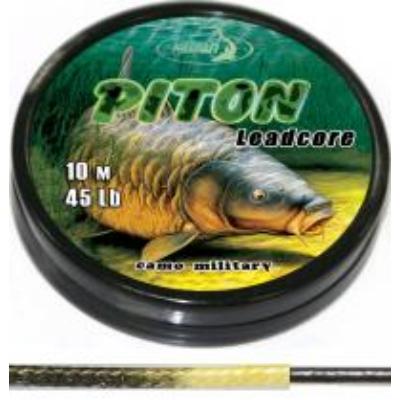 KATRAN PITON LEAD CORE CAMO GREEN BLACK 45 LB 10 M
