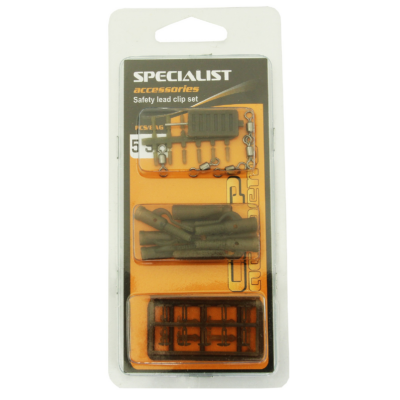 CARP ACADEMY SAFETY LEAD CLIP SET
