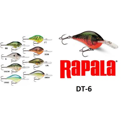 RAPALA DIVES-TO SWIMMING DEPTH OF 6FT WOBBLEREK