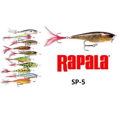 RAPALA SKITTER POP SURFACE POPPER WOBBLEREK SP05  5CM