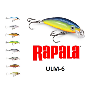 RAPALA ULTRA LIGHT MINNOW WOBBLEREK ULM06 6CM