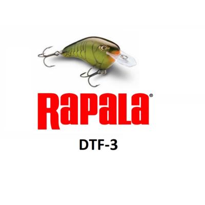 RAPALA DT-FLAT  DIVES-TO SWIMMNIG DEPTH OF 3 FT DTF03 WOBBLEREK