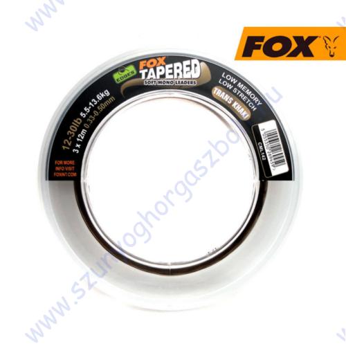 FOX EDGES SOFT TAPERED LEADERS  KHAKI 3x12-30LB